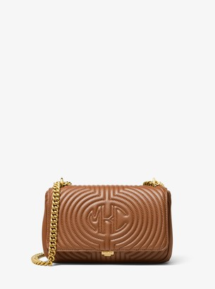 Michael Kors Monogramme Quilted Leather Shoulder Bag