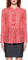 Bagutta Red/white Adele Polka Dots Shirt