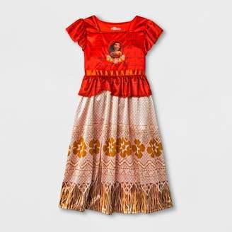 Disney Girls' Moana Nightgown - Red