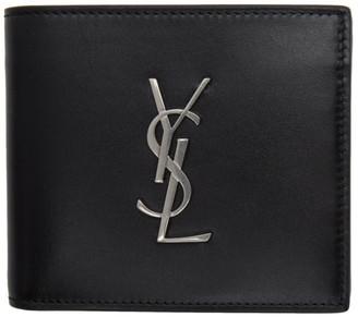 Saint Laurent Black Logo Billfold Wallet