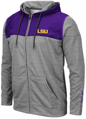 Colosseum Men Lsu Tigers Nelson Full-Zip Hooded Sweatshirt