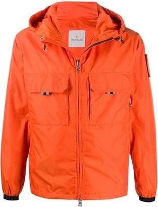 Moncler Patch Drawstring Hood Jacket