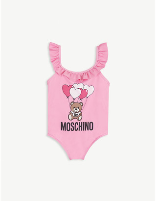 Moschino Frilled neck bear shell swimsuit 6-36 months