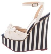 Charlotte Olympia Meredith Striped Wedges