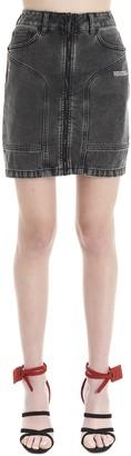 Off-White Logo Denim Skirt