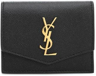 Saint Laurent Uptown leather card holder