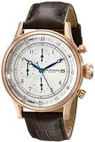 Akribos XXIV Men's AK798RG Rose-Tone Stainless Steel Watch with Brown Leather Band
