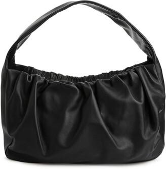 Arket Gathered Leather Shoulder Bag