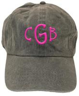 Party Cat Personalized Faded-Charcoal Hat