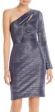 Aqua One-Shoulder Cocktail Dress - 100% Exclusive