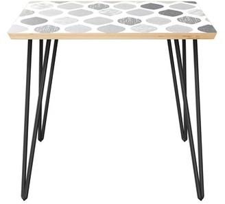 Brayden Studio Kristine End Table Table Top Color: Natural, Table Base Color: Black