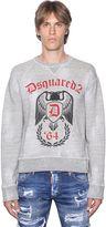 DSQUARED2 Side Zip Distressed Cotton Sweatshirt