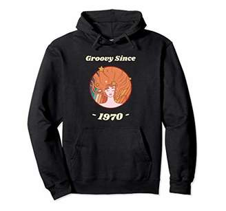 Vintage Retro Woman Groovy Since 1970 50th Birthday Gift Pullover Hoodie