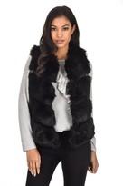 AX Paris Black Short Faux Fur Gilet