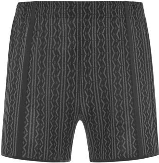 Maxibillion Hugh Comfort Mesh Lounge Shorts Black / White