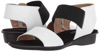 Sesto Meucci Eirlys (Black Soft Nabuk/Black Elastic) Women's Sandals