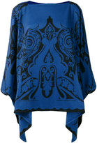 Etro cashmere embroidered knitted cape - women - Cashmere - One Size