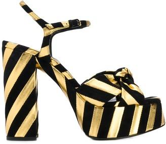 Saint Laurent Bianca striped sandals