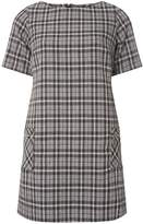 Dorothy Perkins Petite Grey Checked Print Shift Dress