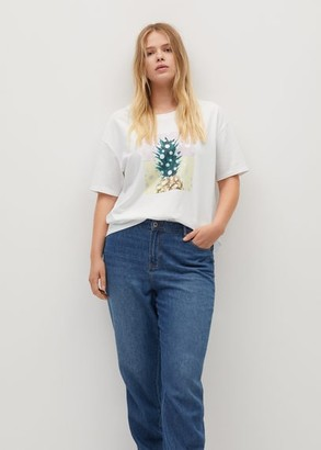 MANGO Pineapple printed cotton T-shirt