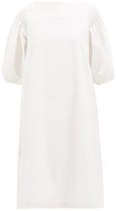 Merlette New York Aster Cotton-poplin Midi Dress - Womens - White