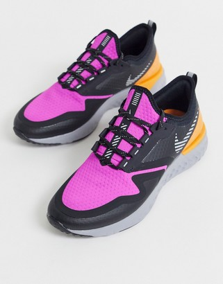 Nike Running odyssey react 2 shield sneakers in fire pink
