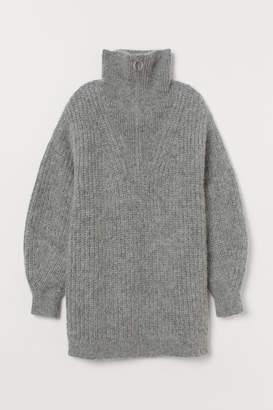 H&M Knit Alpaca-blend Sweater - Gray
