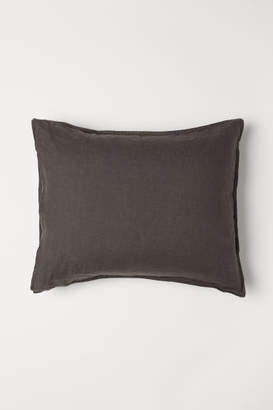 H&M Washed Linen Pillowcase - Beige