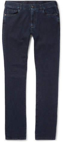 Canali Stretch Cotton And Cashmere-Blend Denim Jeans
