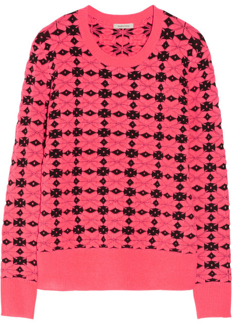 Emma Cook Neon patterned knitted sweater