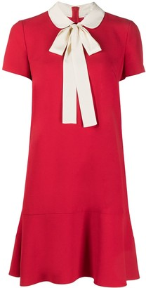 RED Valentino Pussy-Bow Shift Dress