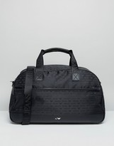 Armani Jeans All Over Logo Holdall In Black