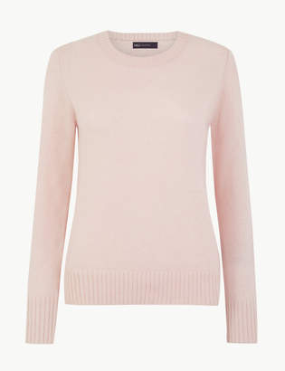 M&S CollectionMarks and Spencer Wool Rich Round Neck Jumper