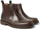 A.P.C. Simeon Leather Chelsea Boots - Dark brown