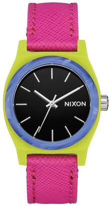 Nixon Womens Analogue Quartz Watch with Leather Strap A1172-3152-00