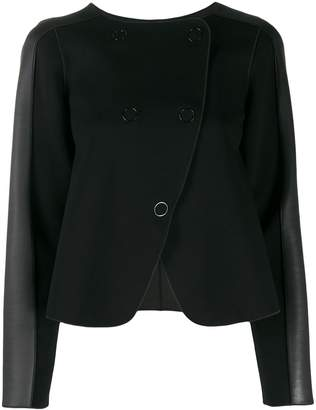 Emporio Armani panelled double-breasted coat
