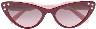 Miu Miu red cat eye rhinestone embellished sunglasses