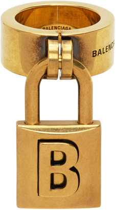 Balenciaga Gold Lock Ring