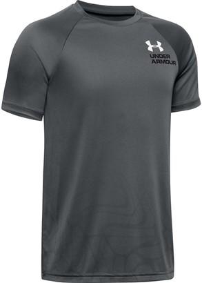 Under Armour Boys' UA Tech Splash Chest Stripe Short Sleeve