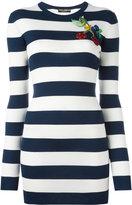 Dolce & Gabbana striped cherry top - women - Silk - 40