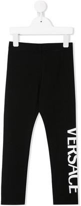 Versace logo print leggings