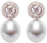 Ora Pearls Halo Grey Pearl Earrings