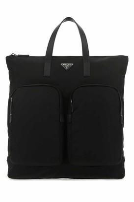 Prada Zipped Pocket Tote Bag