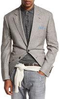 Brunello Cucinelli Prince of Wales Wool-Blend Sport Coat, Brown