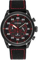 Citizen Men's Chronograph Avion Black Nylon Strap Watch 45mm CA4215-12E, A Macy's Exclusive