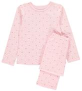 George Glitter Heart Print Pyjamas