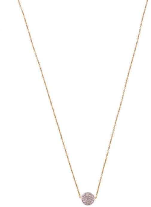 Monica Vinader Gold Vermeil Fiji Button Diamond Necklace