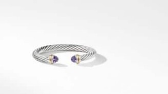 David Yurman Davidyurman Cable Classics Bracelet With Amethyst And 14K Yellow Gold