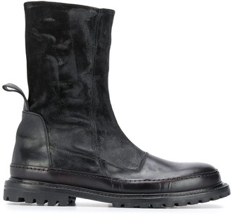Premiata Panelled Ankle Boots