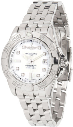 Breitling White Diamond and Stainless Steel Galactic A71356L2/A708 Women's Wristwatch 32MM